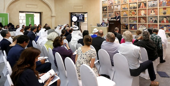 Sotheby's Doha auction in progress