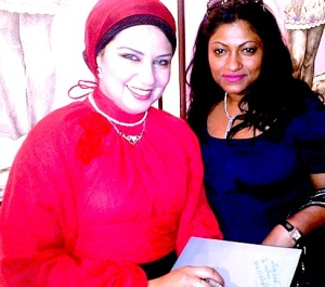 With Hend Falafly in Dubai during her last visit